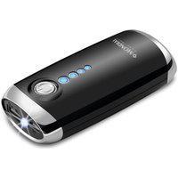 Carregador Bateria Portátil 4000Mah C/Lanterna Mondial Preto