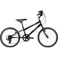 Bicicleta Caloi Hot Wheels - Aro 20 - Freio V-Brake - Câmbio Traseiro Shimano - 7 Marchas - Infantil - Preto