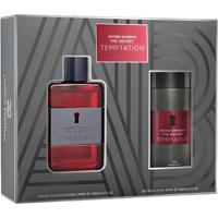 Kit Perfume Masculino The Secret Temptation Antonio Banderas Eau De Toilette 100Ml + Pós Barba 75Ml - Masculino-Incolor