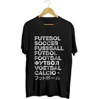 Camiseta - Futebol No Mundo. Masculina - Masculino