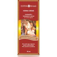 Coloração Semi-Permanente Henna Surya Castanho Dourado 70Ml