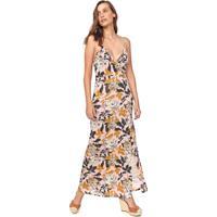 Vestido Fiveblu Longo Floral Rosa/Amarelo
