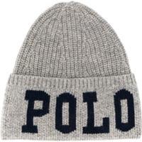 Polo Ralph Lauren Logo Knitted Hat - Cinza
