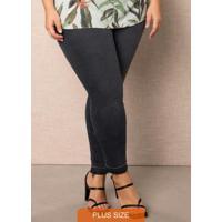 Calça Preta Skinny Jeans Cropped