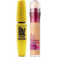 Maybelline Colossal Eraser Kit - Máscara Para Cílios + Corretivo Honey Kit - Feminino-Incolor