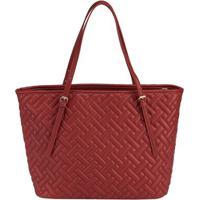 Shopping Bag Stz Matelassê Geométrico Vermelho -