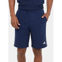 Bermuda Adidas Ess 3S Ft Masculina - Masculino-Azul