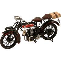 Miniatura Moto Can 357 Decorativa De Metal Preto E Vermelho