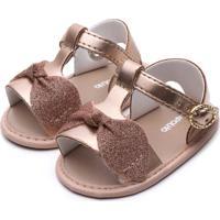 Sandália Pimpolho Infantil Glitter Rosa