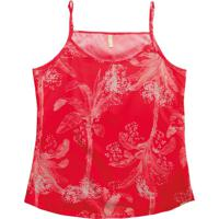 Blusa Com Alça Fina Estampada Vermelho