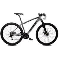 Bicicleta Aro 29 Quadro 19 Alumínio 21 Marchas Freio Disco Mecânico Z1-X Cinza/Preto - Dropp
