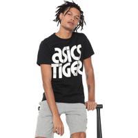 Camiseta Asics Lettering Bl Preta