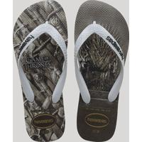 Chinelo Masculino Havaianas Game Of Thrones Cinza