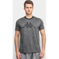 Camiseta Kappa Dritto Masculina - Masculino-Preto