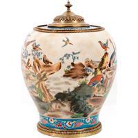 Vaso Decorativo De Porcelana Jing