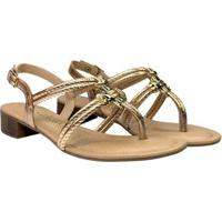 Sandália Dakota Dedo Tiras Metais - Feminino-Dourado