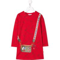 Little Marc Jacobs Vestido Com Bolsa Transversal - Vermelho