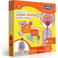 Quebra Cabeça - Explorando O Corpo Humano - 120 Peças - Toyster - Unissex-Incolor