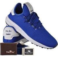 4c6eff554 ... Kit Tênis Masculino Polo Joy Sport Com Carteira E Cinto - Masculino-Azul
