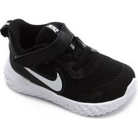 Tênis Infantil Nike Revolution 5 Tdv - Masculino-Preto+Branco