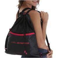 Gym Sack Olympikus Essential - 8 Litros - Preto/Rosa