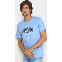 Camiseta Rip Curl Hex Rip Dropping Out Masculina - Masculino-Azul Claro