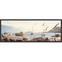 Quadro Decorativo Com Moldura Mar Preto