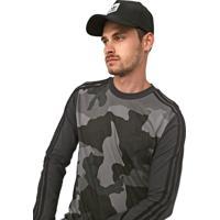 Camiseta Adidas Originals Camo Ls Grafite