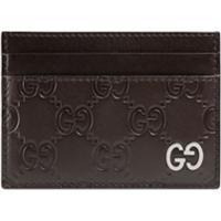 Gucci Porta-Cartões 'Gucci Signature' - Marrom