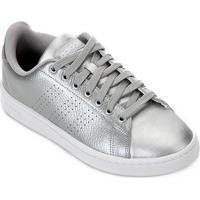 Tênis Adidas Advantage Feminino - Feminino-Prata