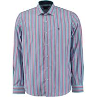 Camisa Ctx Ml Slim Listrada Azul