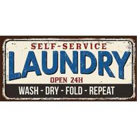 "Tapete Transfer ""Laundry""- Bege & Azul- 60X40Cm-Tapetes Junior"