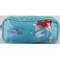 Estojo Escolar Infantil Pequena Sereia Ariel Com Divisórias Verde Água
