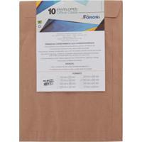 Envelope Saco Foroni Kraft Natural 260X360Mm Com 10 Unidades