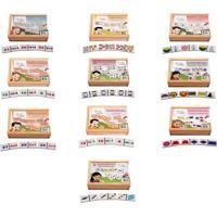 Brinquedo Educativo Conjunto De Dominos – Matematica – Caixa Jogos Editora Fundamental Vermelho