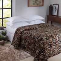 Manta Animal Print Casal Senegal 1,80X2,20M Jolitex