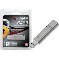 Pen Drive Criptografia Kingston Dtlpg3/64Gb Datatraveler 64Gb Locker+ G3 Usb 3.0