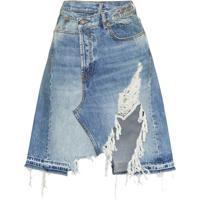 R13 Saia Jeans Assimétrica - Azul