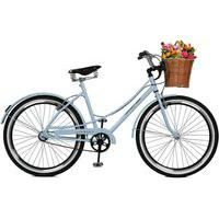 Bicicleta Master Bike Aro 26 Bella Retro Branco Azulado