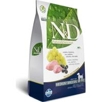 Ração Farmina N&D Adulto Raças Médias Cordeiro E Blueberry 10 Kg
