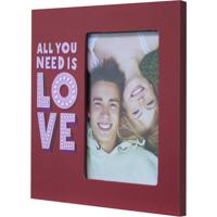 Porta-Retrato All You Need Is Love Vermelho 20X20Cm
