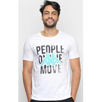 Camiseta Kappa People On The Move Masculina - Masculino-Branco