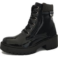 Bota Navit Shoes Tratorada Veshing Com ZãPer Preto - Preto - Feminino - Dafiti