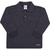 Camisa Polo Mescla Preto - Primeiros Passos - Menino Meia Malha 45359-876 Polo Preto - Primeiros Passos Menino Meia Malha Ref:45359-876-2