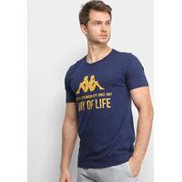 Camiseta Kappa Way Of Life Masculina - Masculino-Marinho