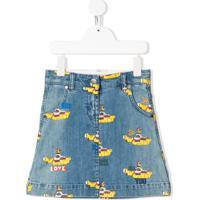 Stella Mccartney Kids Saia Jeans X The Beatles Yellow Submarine - Azul