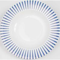 Prato Fundo 23 Cm Porcelana Schmidt - Dec. Sol Azul