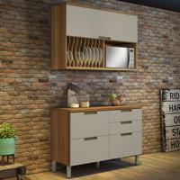 Cozinha Duquesa Completa - 2 Peças - Freijó Com Offwhite - Nesher
