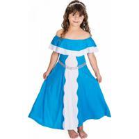 Fantasia Infantil Celeste Azul Roupa Brinquedo Lé Com Cré