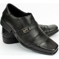 Sapato Social Couro Garra Masculino - Masculino-Preto